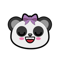 Cute bear kawaii cartoon vector