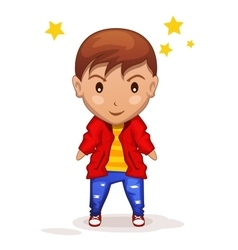 cute cartoon children boy in vector image