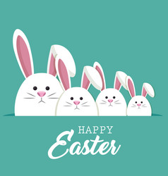 cute rabbit happy easter vector image