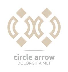 design infinity element arch symbol icon vector image