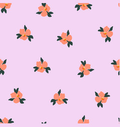 ditsy pansy flowers seamless pattern vector image