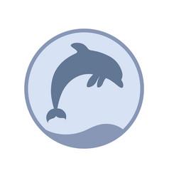 dolphin symbol vector image