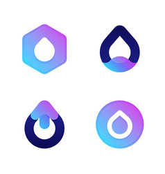 drops cool icons or logo templates set vector image
