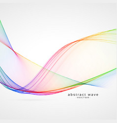 Elegant rainbow color abstract wave background vector