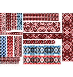 Ethnic Patterns for Embroidery Stitch vector image
