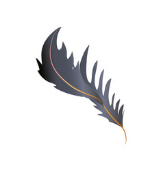 Feather fluff allegory decoration icon vector