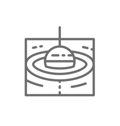 fishing float line icon vector image