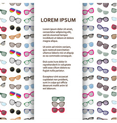 Flat poster or banner template with eyeglasses vector