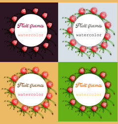 Flower wreath round frame of flowers and leaves vector