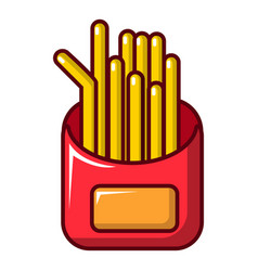 Fried potatoes icon cartoon style vector