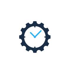 Gear time logo icon design vector