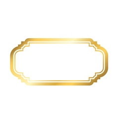 Gold frame Beautiful simple golden white design vector image