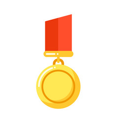 golden medal to rewarding for business achievement vector image