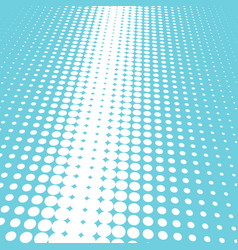 Halftone blue and white background vector