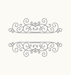 hand drawn decorative border in retro style vector image