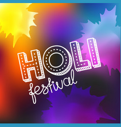 holi festival concept happy holi elements for vector image