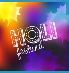 Holi festival concept happy holi elements vector