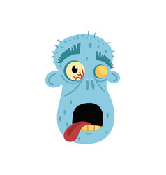 horror monster avatar in cartoon style vector image