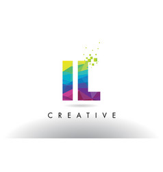 Il i l colorful letter origami triangles design vector
