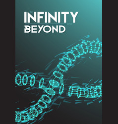 Infinity wireframe symbol vector