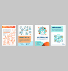 Investment brochure template layout vector
