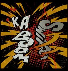 Ka-Boom explosion vector image