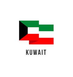 Kuwait flag template design vector