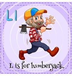 Letter L is for lumberjack vector