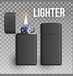 lighter burn object burning 3d realistic vector image