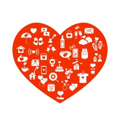 love mix icons icons vector image