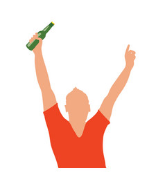 man with bottle in hand vector image