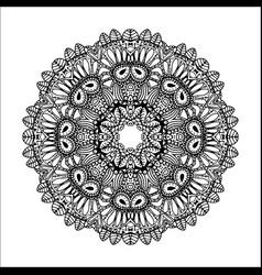 mandala ethnic decorative round element hand vector image