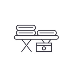 massage table line icon concept massage table vector image