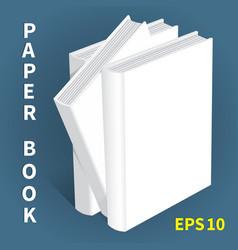 Mock-ups of paper books-13 vector