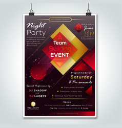Party night company gathering flyer design vector