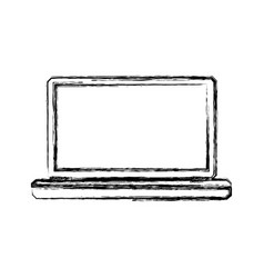 pc laptop technology vector image