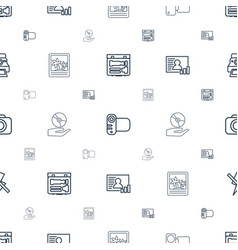 picture icons pattern seamless white background vector image