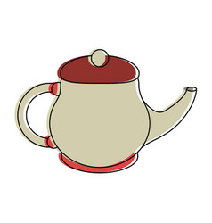 porcelain tea jug vector image
