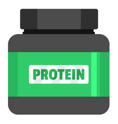Protein icon flat style vector