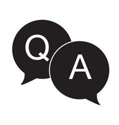 questions amp answers speech bubbles flat icon vector image