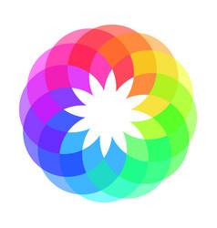 rainbow spectrum color wheel children wind vane vector image vector image
