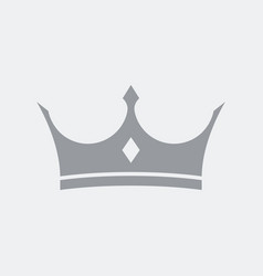royal crown flat clean minimal and isolated with vector image