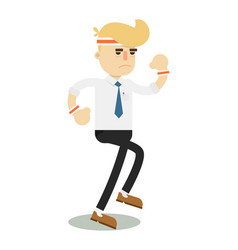 running businessman isolated icon vector image