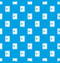Safety deposit box pattern seamless blue vector