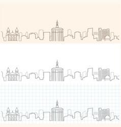san jose hand drawn skyline vector image