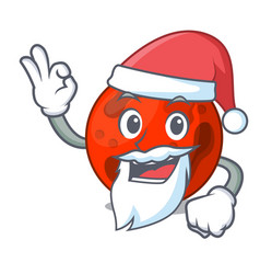 Santa mars planet mascot cartoon vector