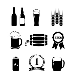 Set beer icons vector