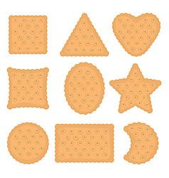 Set cracker chips various shapes vector
