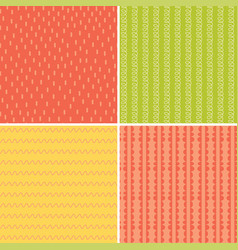 set of isolated seamless pattern line abstract vector image