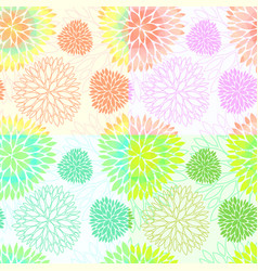 set of seamless floral blossom patterns vector image